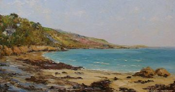 Harry Prest Original Oil Painting Cornish Coast